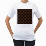 SCALES1 BLACK MARBLE & RUSTED METAL (R) Women s T-Shirt (White) (Two Sided)