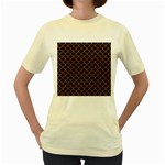 SCALES1 BLACK MARBLE & RUSTED METAL (R) Women s Yellow T-Shirt