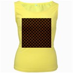SCALES1 BLACK MARBLE & RUSTED METAL (R) Women s Yellow Tank Top