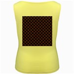 SCALES1 BLACK MARBLE & RUSTED METAL (R) Women s Yellow Tank Top Back