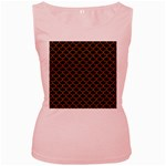 SCALES1 BLACK MARBLE & RUSTED METAL (R) Women s Pink Tank Top