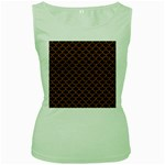 SCALES1 BLACK MARBLE & RUSTED METAL (R) Women s Green Tank Top