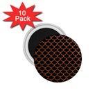 SCALES1 BLACK MARBLE & RUSTED METAL (R) 1.75  Magnets (10 pack)