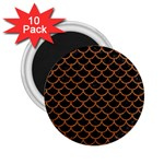 SCALES1 BLACK MARBLE & RUSTED METAL (R) 2.25  Magnets (10 pack)