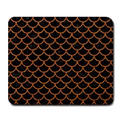 Scales1 Black Marble & Rusted Metal (r) Large Mousepads by trendistuff