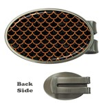 SCALES1 BLACK MARBLE & RUSTED METAL (R) Money Clips (Oval)