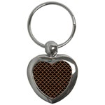 SCALES1 BLACK MARBLE & RUSTED METAL (R) Key Chains (Heart)