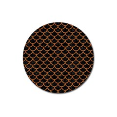 Scales1 Black Marble & Rusted Metal (r) Magnet 3  (round) by trendistuff