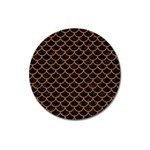 SCALES1 BLACK MARBLE & RUSTED METAL (R) Magnet 3  (Round)