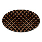 SCALES1 BLACK MARBLE & RUSTED METAL (R) Oval Magnet