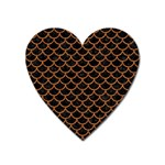 SCALES1 BLACK MARBLE & RUSTED METAL (R) Heart Magnet