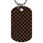 SCALES1 BLACK MARBLE & RUSTED METAL (R) Dog Tag (One Side)