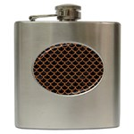 SCALES1 BLACK MARBLE & RUSTED METAL (R) Hip Flask (6 oz)