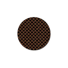 Scales1 Black Marble & Rusted Metal (r) Golf Ball Marker by trendistuff
