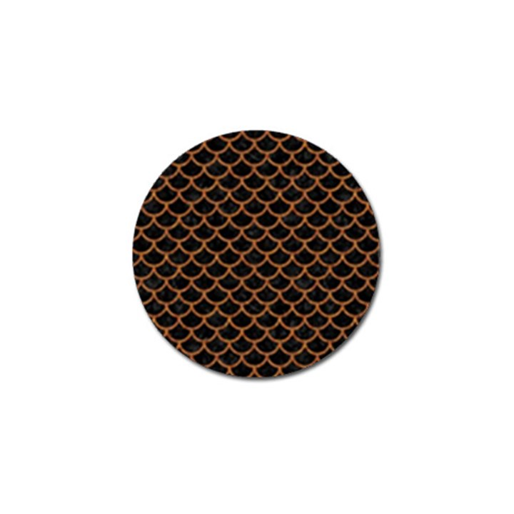 SCALES1 BLACK MARBLE & RUSTED METAL (R) Golf Ball Marker (10 pack)