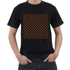 Scales1 Black Marble & Rusted Metal (r) Men s T Shirt (black) (two Sided) by trendistuff