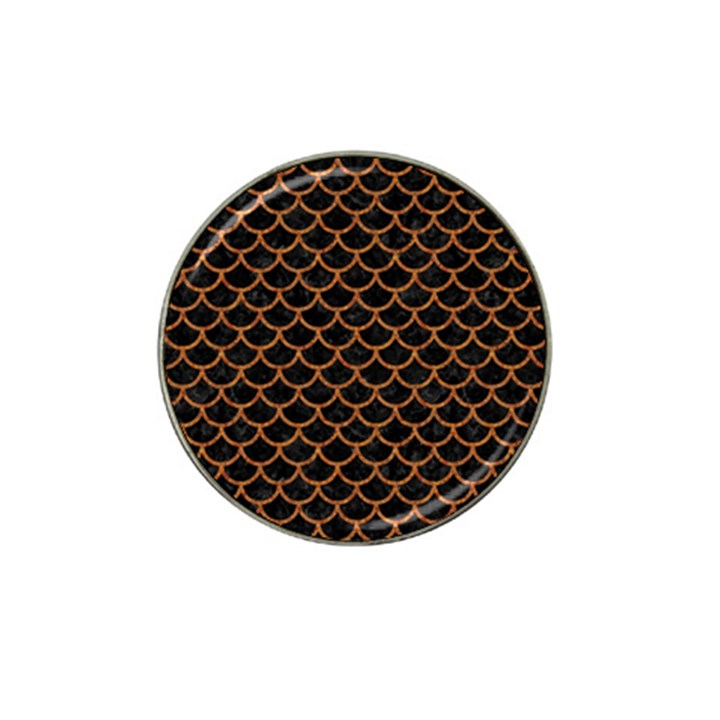 SCALES1 BLACK MARBLE & RUSTED METAL (R) Hat Clip Ball Marker (10 pack)
