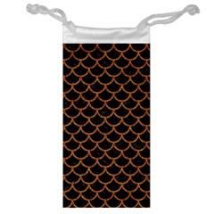 Scales1 Black Marble & Rusted Metal (r) Jewelry Bag by trendistuff