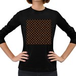 SCALES1 BLACK MARBLE & RUSTED METAL (R) Women s Long Sleeve Dark T-Shirts Front