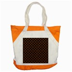 SCALES1 BLACK MARBLE & RUSTED METAL (R) Accent Tote Bag Front