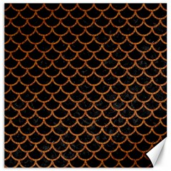 Scales1 Black Marble & Rusted Metal (r) Canvas 20  X 20   by trendistuff
