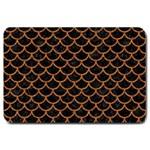 SCALES1 BLACK MARBLE & RUSTED METAL (R) Large Doormat  30 x20 Door Mat - 1