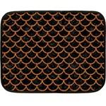 SCALES1 BLACK MARBLE & RUSTED METAL (R) Fleece Blanket (Mini) 35 x27 Blanket