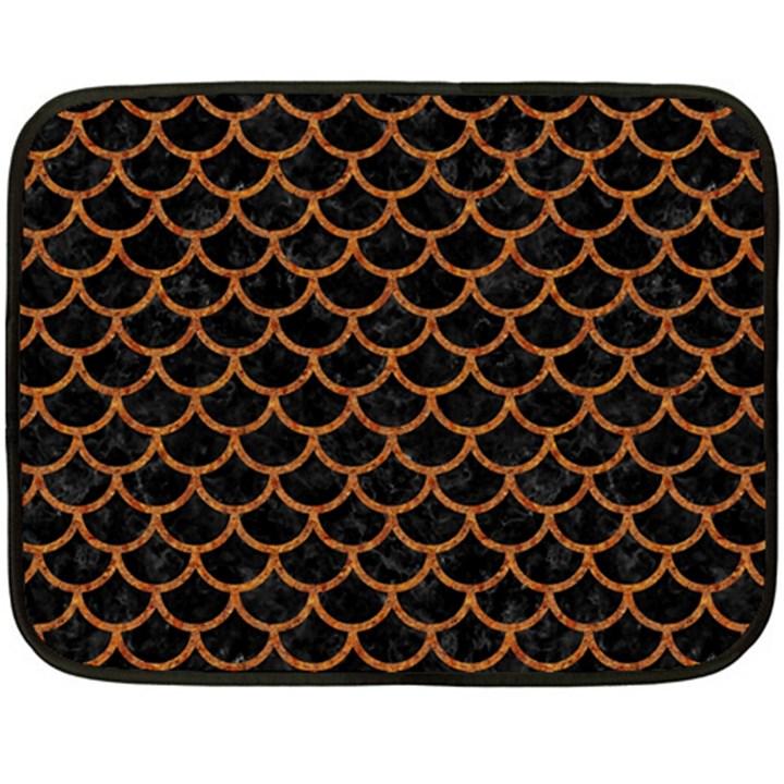 SCALES1 BLACK MARBLE & RUSTED METAL (R) Fleece Blanket (Mini)