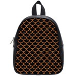 SCALES1 BLACK MARBLE & RUSTED METAL (R) School Bag (Small) Front