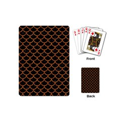 Scales1 Black Marble & Rusted Metal (r) Playing Cards (mini)  by trendistuff