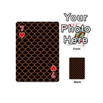 SCALES1 BLACK MARBLE & RUSTED METAL (R) Playing Cards 54 (Mini)  Front - Heart7