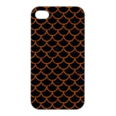Scales1 Black Marble & Rusted Metal (r) Apple Iphone 4/4s Premium Hardshell Case by trendistuff