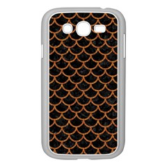 SCALES1 BLACK MARBLE & RUSTED METAL (R) Samsung Galaxy Grand DUOS I9082 Case (White)