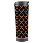 SCALES1 BLACK MARBLE & RUSTED METAL (R) Travel Tumbler Left
