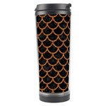SCALES1 BLACK MARBLE & RUSTED METAL (R) Travel Tumbler Right