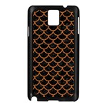 SCALES1 BLACK MARBLE & RUSTED METAL (R) Samsung Galaxy Note 3 N9005 Case (Black) Front