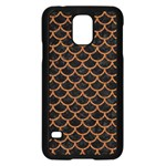 SCALES1 BLACK MARBLE & RUSTED METAL (R) Samsung Galaxy S5 Case (Black) Front