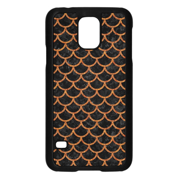 SCALES1 BLACK MARBLE & RUSTED METAL (R) Samsung Galaxy S5 Case (Black)