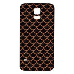 Scales1 Black Marble & Rusted Metal (r) Samsung Galaxy S5 Back Case (white) by trendistuff