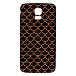 SCALES1 BLACK MARBLE & RUSTED METAL (R) Samsung Galaxy S5 Back Case (White) Front