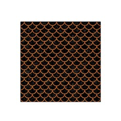 Scales1 Black Marble & Rusted Metal (r) Satin Bandana Scarf