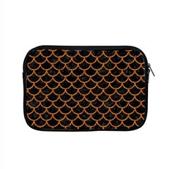 Scales1 Black Marble & Rusted Metal (r) Apple Macbook Pro 15  Zipper Case