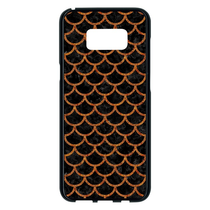 SCALES1 BLACK MARBLE & RUSTED METAL (R) Samsung Galaxy S8 Plus Black Seamless Case