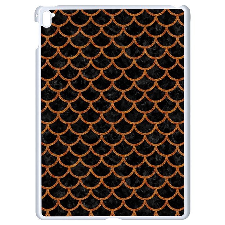 SCALES1 BLACK MARBLE & RUSTED METAL (R) Apple iPad Pro 9.7   White Seamless Case