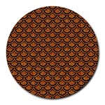 SCALES2 BLACK MARBLE & RUSTED METAL Round Mousepads