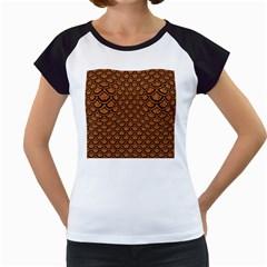 Scales2 Black Marble & Rusted Metal Women s Cap Sleeve T