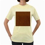 SCALES2 BLACK MARBLE & RUSTED METAL Women s Yellow T-Shirt