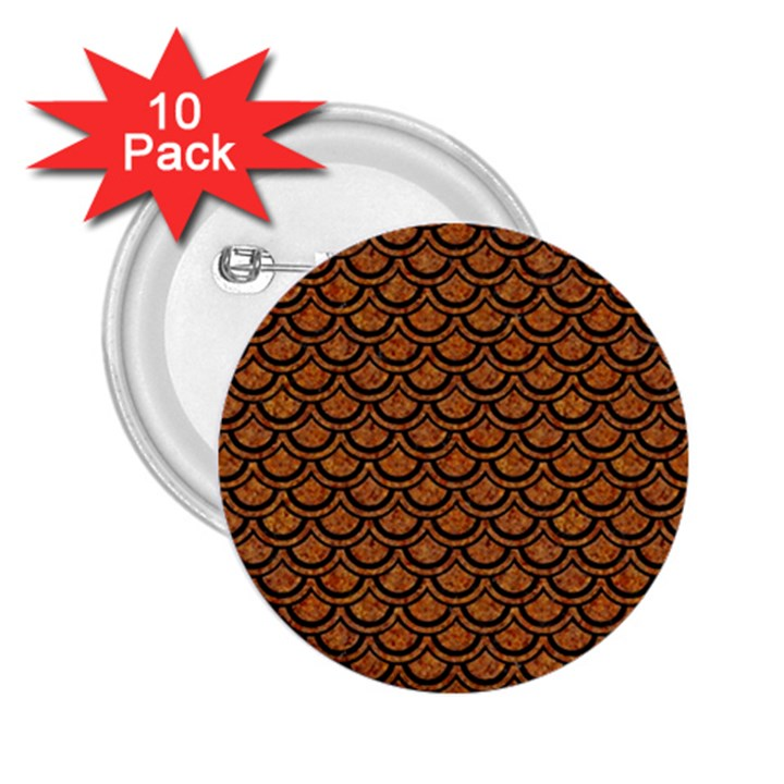 SCALES2 BLACK MARBLE & RUSTED METAL 2.25  Buttons (10 pack)