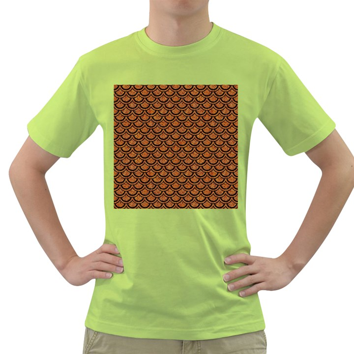 SCALES2 BLACK MARBLE & RUSTED METAL Green T-Shirt