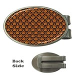 SCALES2 BLACK MARBLE & RUSTED METAL Money Clips (Oval)